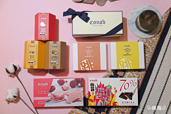 座落中台灣南投埔里的夢想城堡,獲得多項國際殊榮的巧克力,值得推薦的伴手禮商品~Cona's 妮娜巧克力