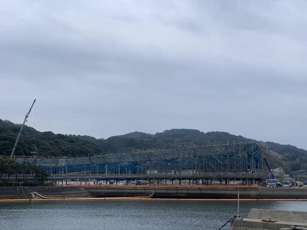 浦頭ターミナル建設中