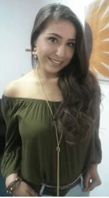 Brenda Ponce, NMSU biochemistry major . By Yaheli Montelongo