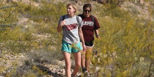 06/23/2016: NMSU students hike on one of the many trails on and around Tortugas Mountain (also known as A Mountain). (Photo by Darren Phillips)