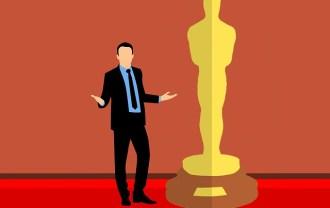 アカデミー賞のオスカー像っぽいイラストの画像