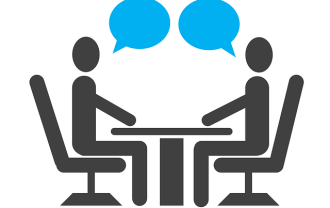 会話(コミュニケーション)をしている人の画像(イラスト)