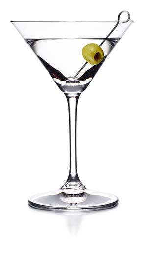 Dry-Martini-kokteilis