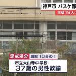 太山寺中学校のバスケ部顧問が体罰 名前を特定