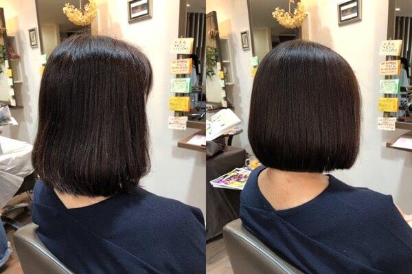 髪質改善縮毛矯正でツルツルサラサラボブに【箕面大阪】