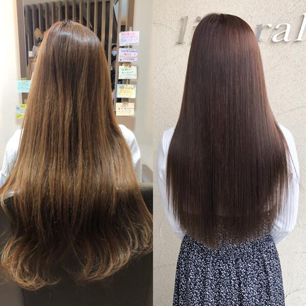 大阪市内からスーパーロングのご来店のお客様を究極艶髪オーダーメイドトリートメントで極限まで綺麗に!