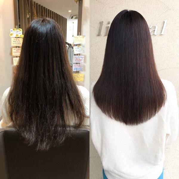 貝塚市から縮毛矯正とびびり直しでクセとチリチリな髪をサラサラツヤツヤに【箕面 大阪】