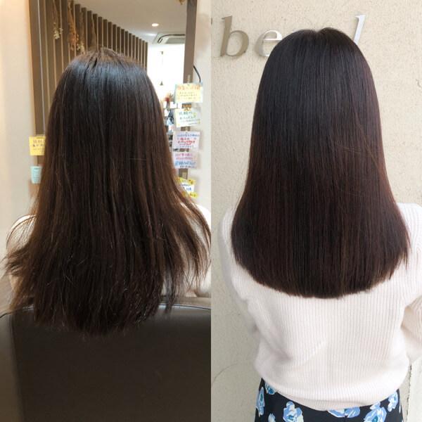 絡まりやすい髪をサラサラにするために神戸からカラーとトリートメントでご来店