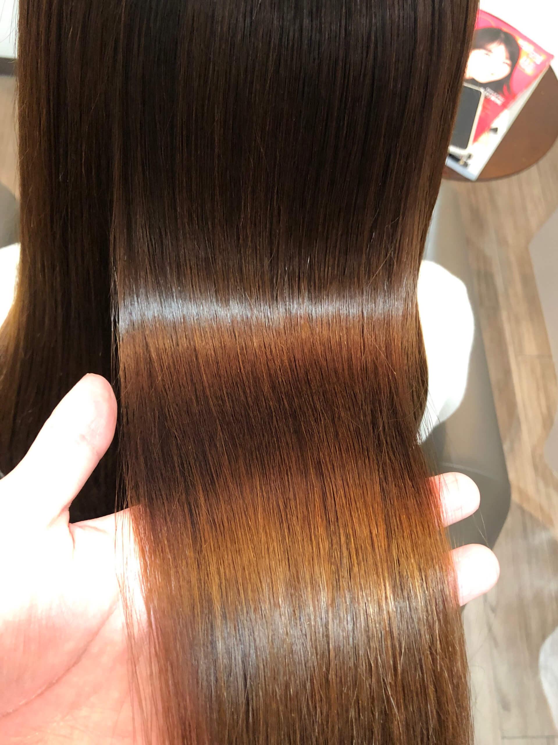 カラーと縮毛矯正両方している方がびびり毛にならないための方法