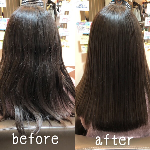 卒業式に向けて人生初めての縮毛矯正を髪質改善縮毛矯正で劇的に綺麗に【箕面 大阪】