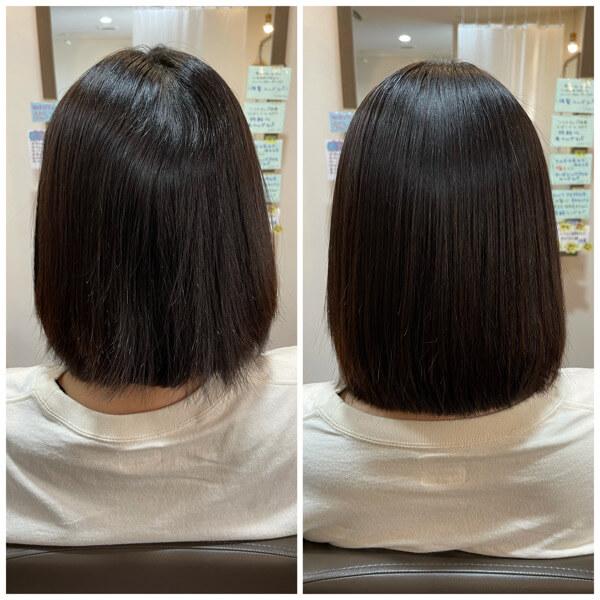 國分オリジナル髪質改善酸性縮毛矯正でうねりさよなら【箕面大阪】