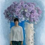 <青い花> 194×162cm