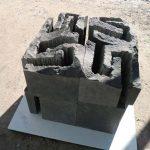 75×75×70cm 黒御影石