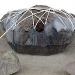 100×350×300cm 石、水、ロープ、ビニールシート