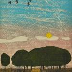 木版 ( 52 x 40)