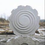 150×130×60cm 白御影石