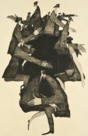 第91回 2017年 <北比臼日>木版 (84 x 54cm)