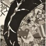 木版(110 x 90cm)