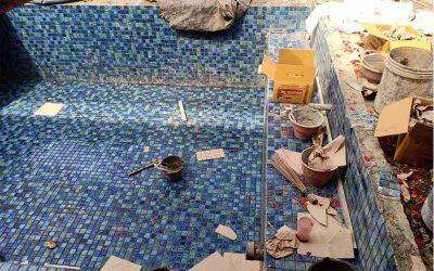 pemasangan mozaic, pembuatan kolam renang