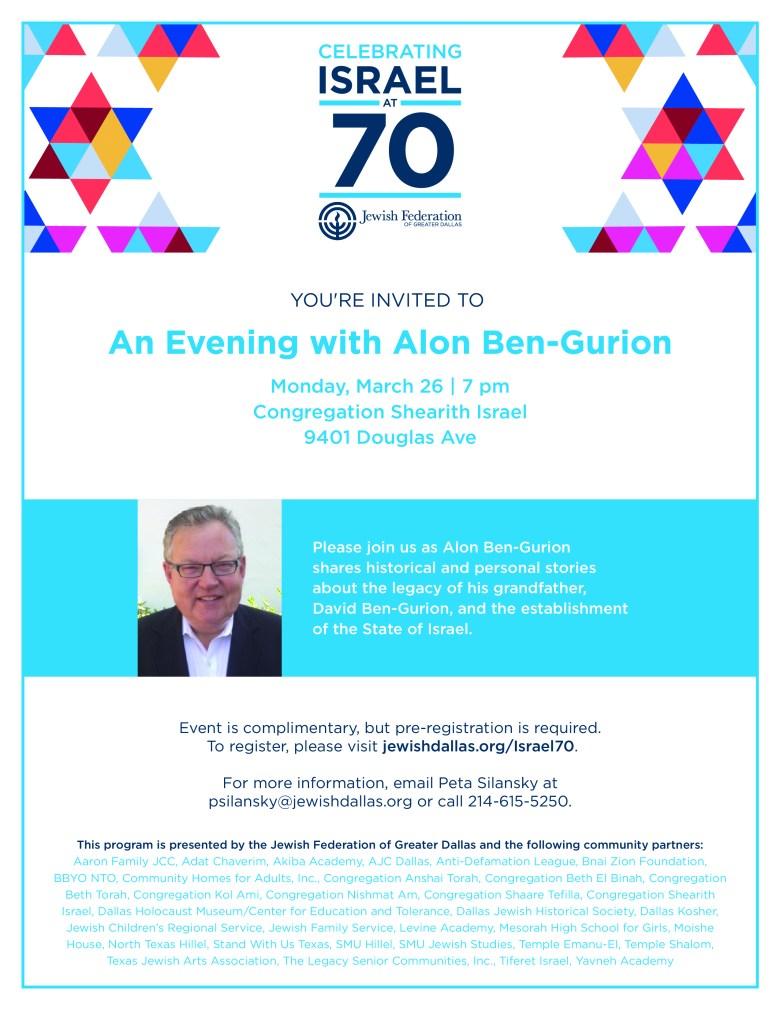 An Evening with Alon Ben-Gurion