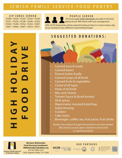 JFS High Holiday Food Drive