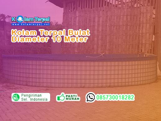 harga kolam terpal diameter 10 meter 2017