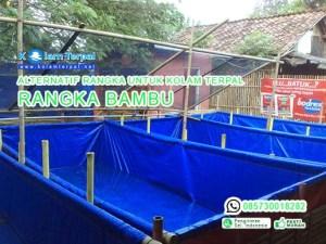 rangka bambu untuk kolam terpal