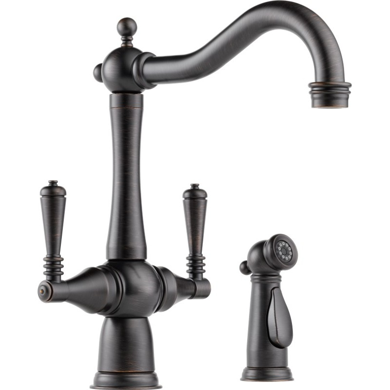 Buy Brizo 62136LF Two Handle Kitchen Faucet With Spray At Discount Price At Kolani Kitchen