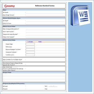 İK Referans Kontrol Formu OnomyWeb