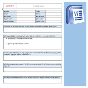 İş Analiz Formu 1