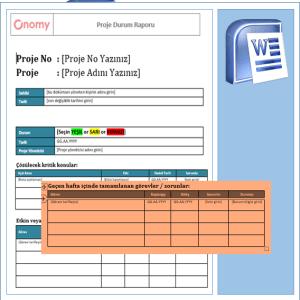 Onomy Proje Set 2 - Proje Durum Raporu