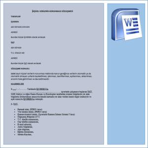 KVK İşveren Çalışan Sözleşmesi