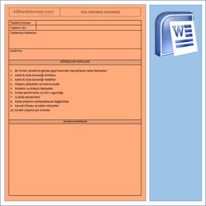 Yönetim Gözden Geçirme Tutanağı Formatı