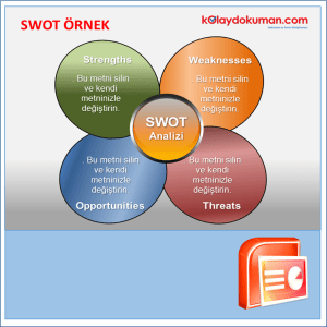 swot analiz power point şablonu 6