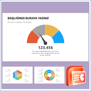 İnfografik Gösterge Power Point Şablonu