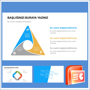 İnfografik Listeleme Power Point Şablonu