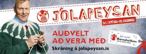 2013-14 Jón Gnarr þátttakandi í fjáröflunarátaki Barnaheilla Jólapeysan