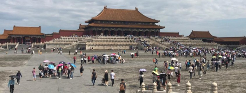 Zakazane Miasto w Pekinie - widok na Pawilon Najwyższej Harmonii