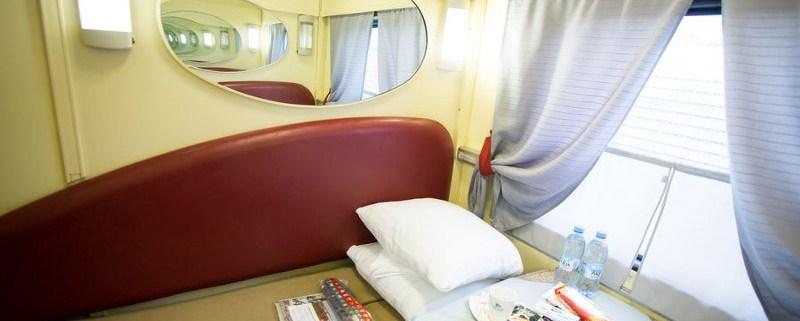 Przedział 1 klasy w pociągu transsyberyjskim
