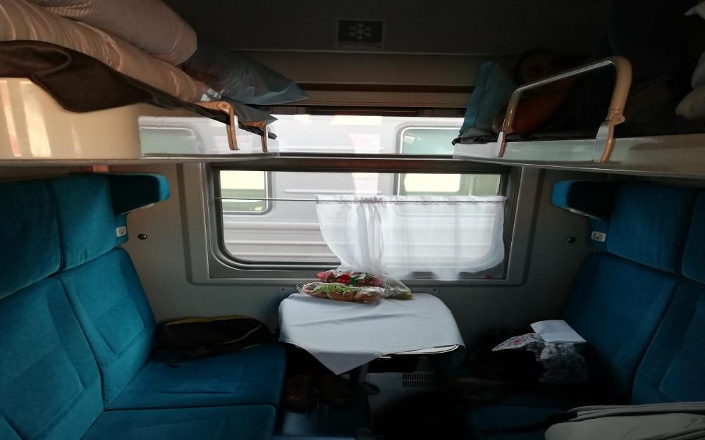 Kolej Transsyberyjska - przedział 2 klasy