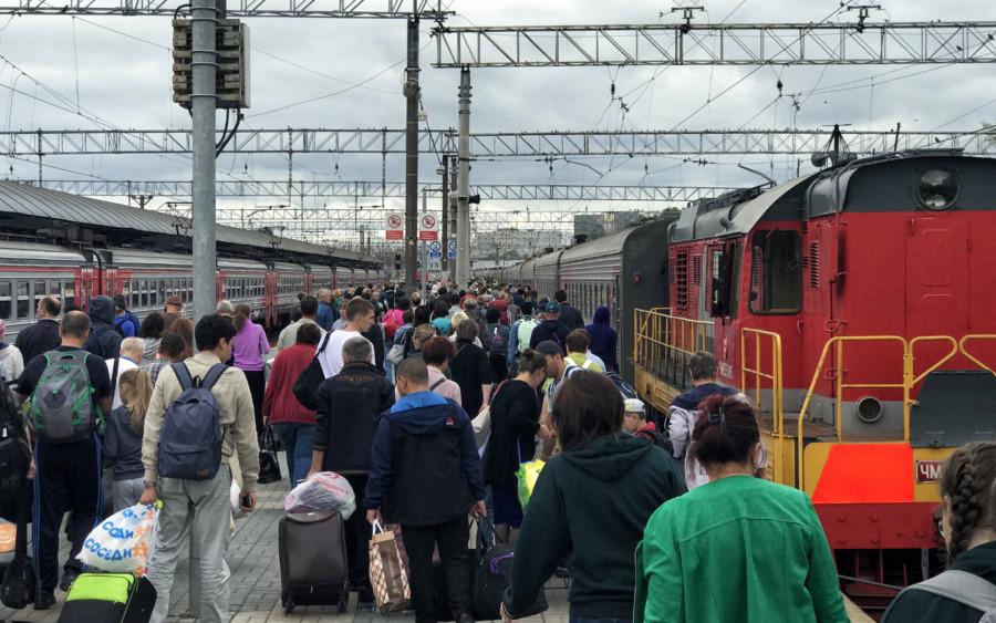 Peron w Rosji po opuszczeniu pociągu