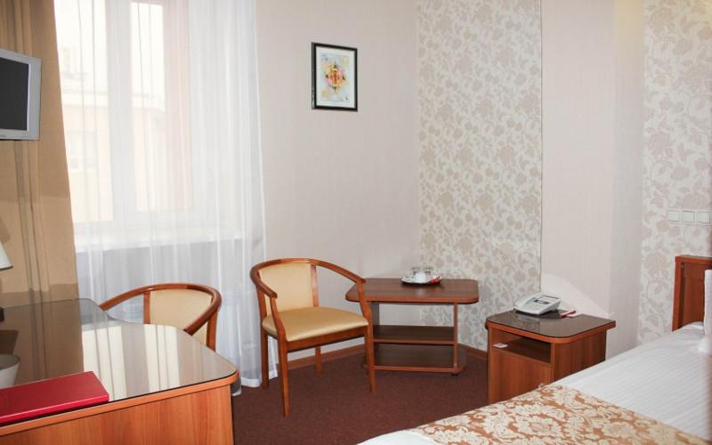 Pokój jednoosobowy w hotelu Imperia w Irkucku