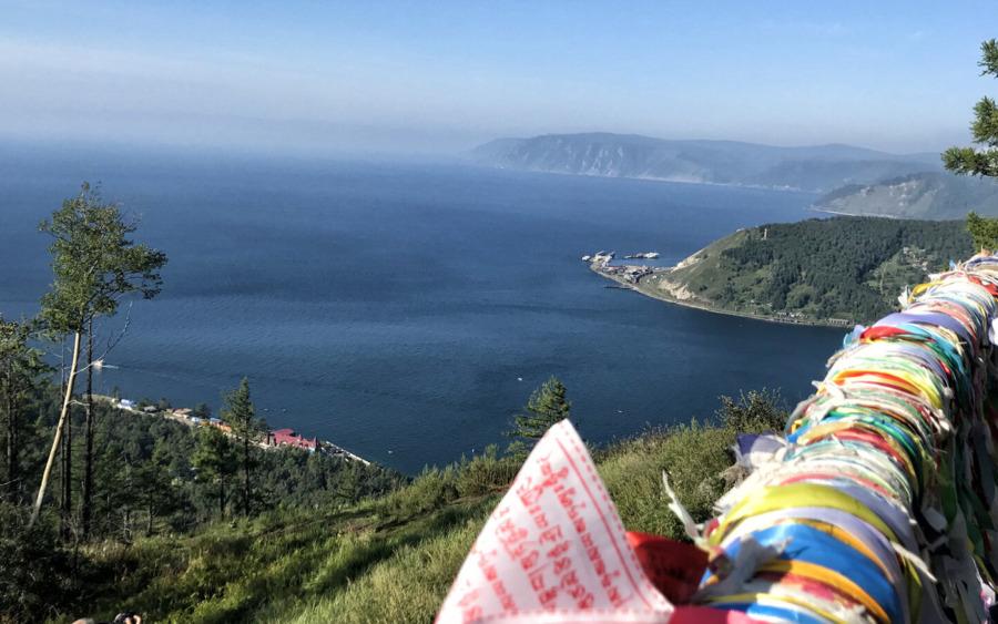 Panorama Jeziora Bajkał z Piku Czerskiego