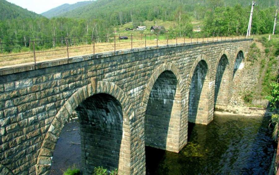 Stary most podczas wycieczki Krugobajkałką