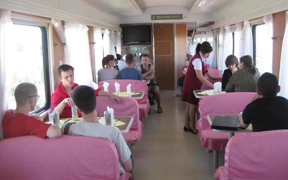 Restauracja w pociągu transsyberyjskim