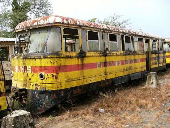 Surinam - pociąg