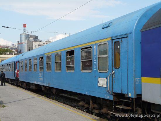 Pociąg Belgrad - Bukareszt - wagon z miejscami do siedzenia