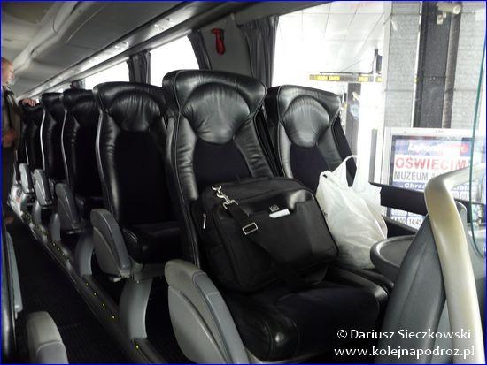 Leo Express - wnętrze autokaru
