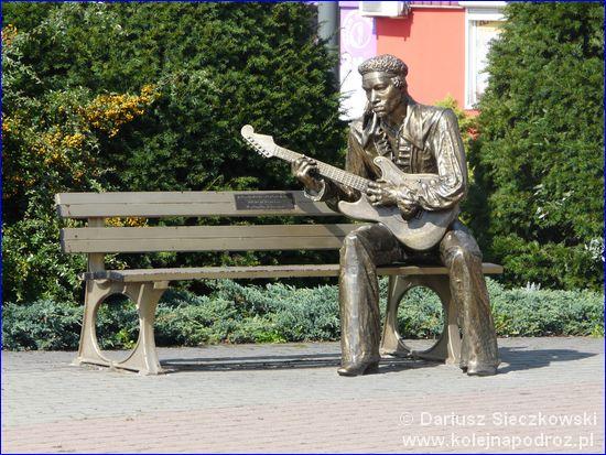 Dąbrowa Górnicza - ławeczka Jimmiego Hendrixa