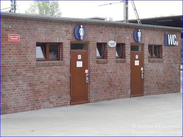 Opole Główne - toalety przy peronie